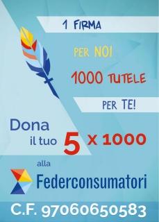 5X1000 Federconsumatori